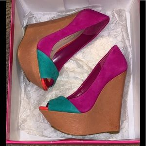 Color Block Wedges by Jessica Simpson